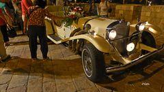 Old car in Old City Jerusalem