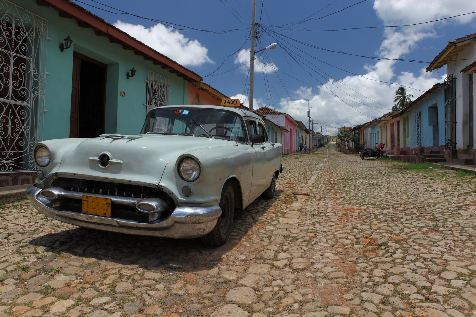 old car in old Trinidad