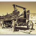 old covered wagon