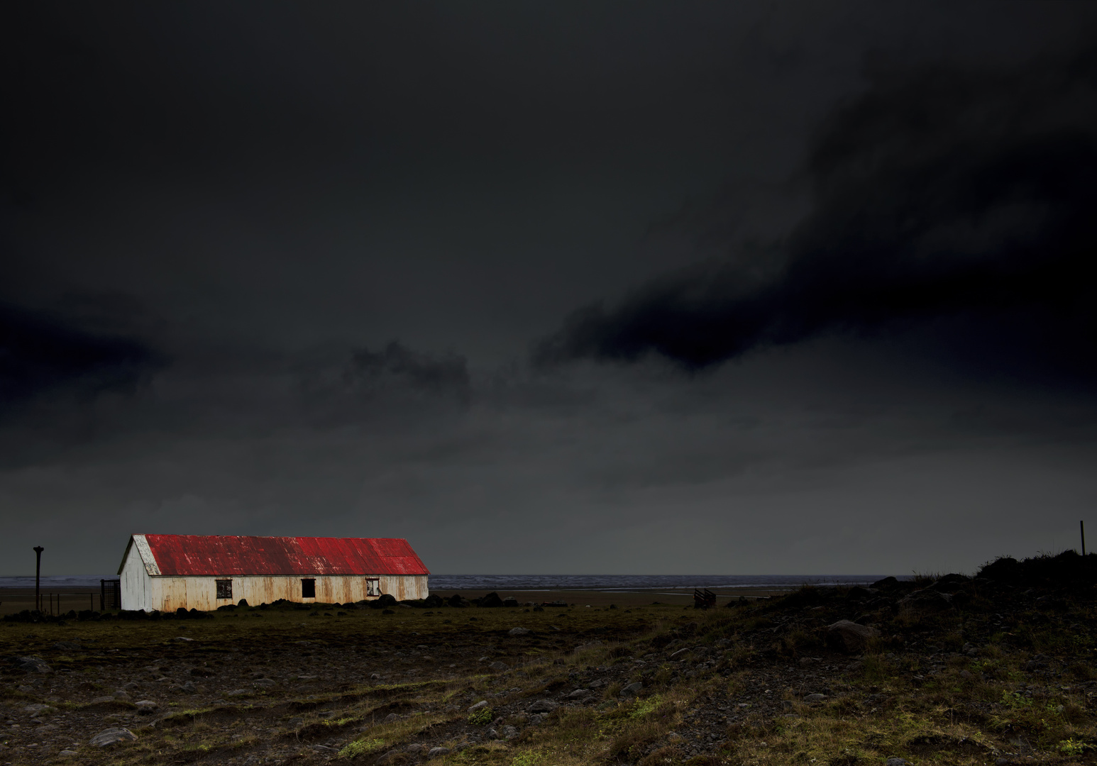 Old Farmhouse in the dark