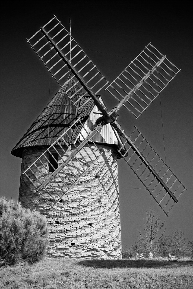 Old French wooden wind-mill