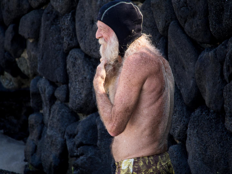 Old Hawaiian Swimmer