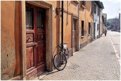 Old houses in Pesaro