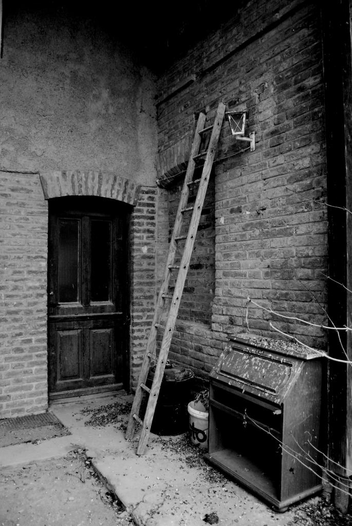 Old ladder upstairs