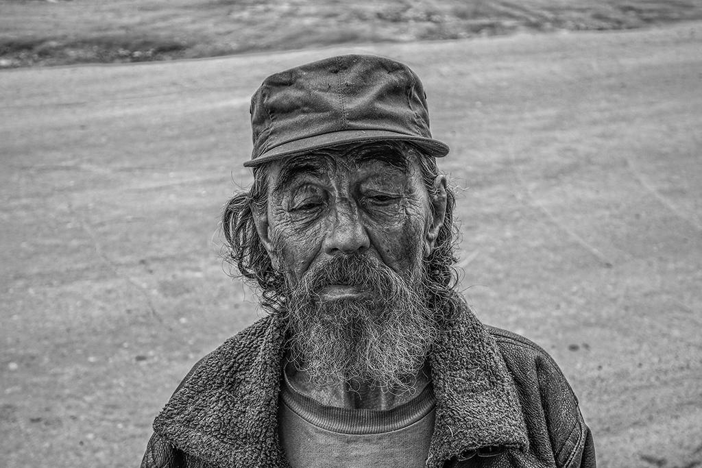 Old man in Irkutsk