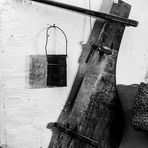 Old rudder of fishing boat