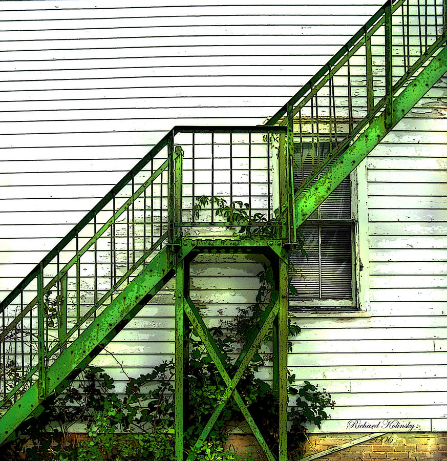 old school house fire escape