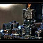 Old steam engine part