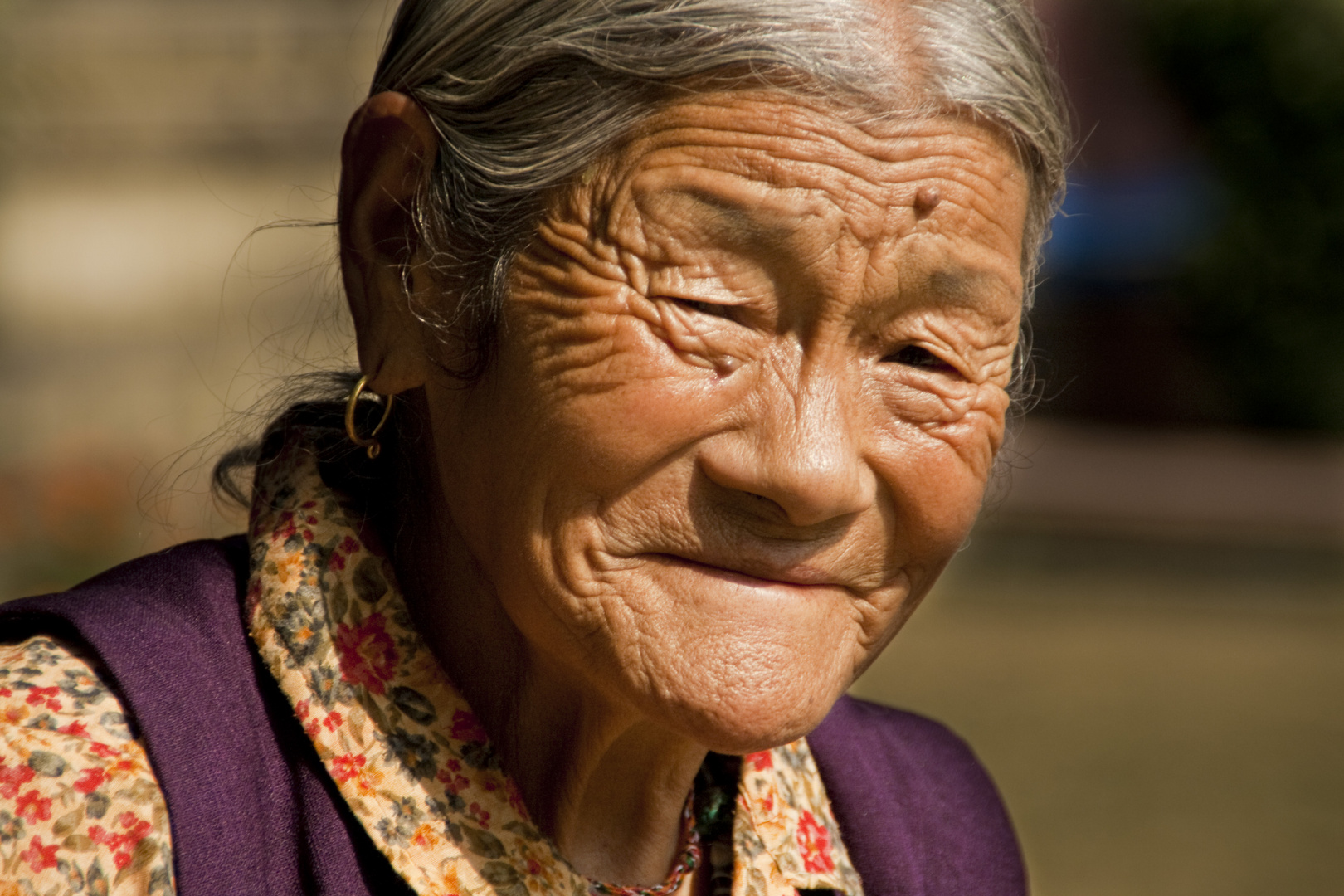 Old Tibetian Women - Bodhgaya Indien