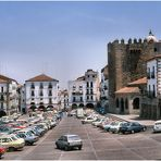 Old times...Plaza Mayor de Caceres