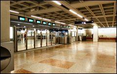 Old ugly underground Lisboa station.