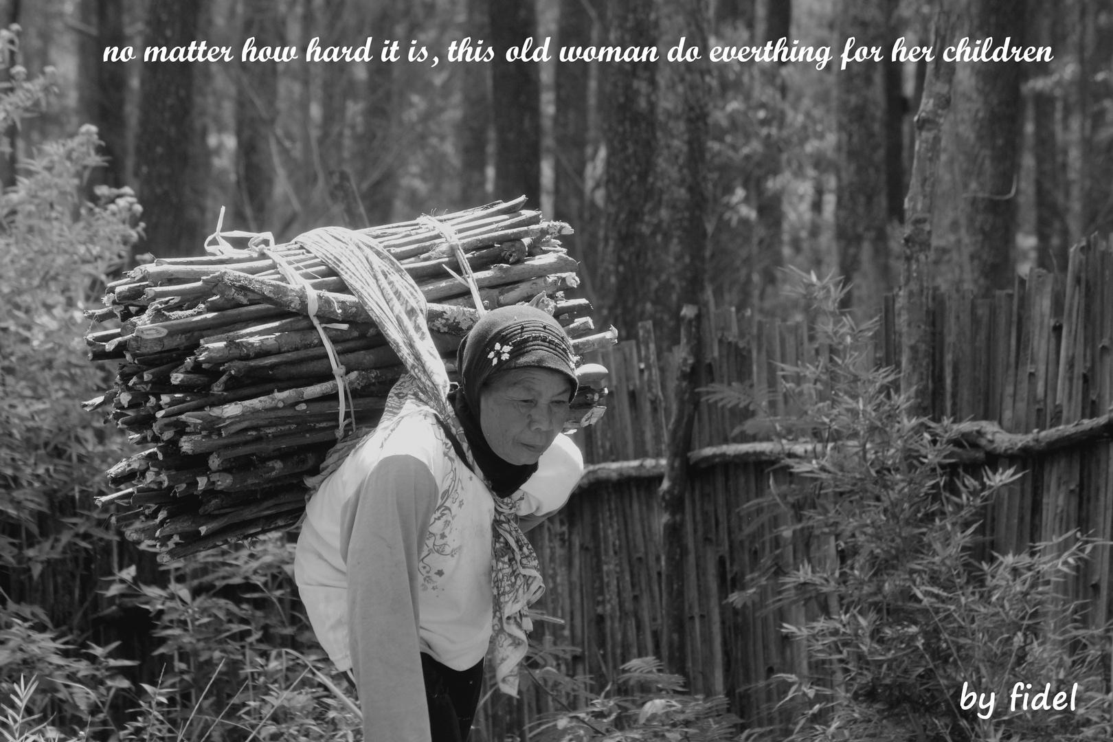 Old Woman in Bandung Indonesia