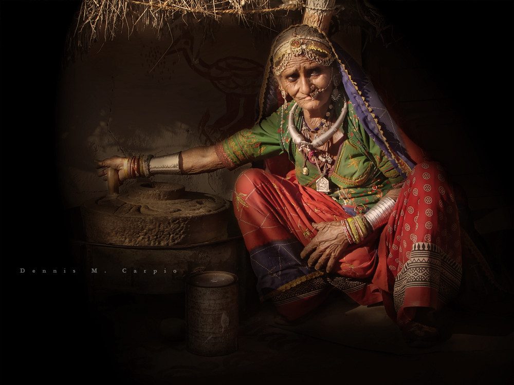 Old Woman Working