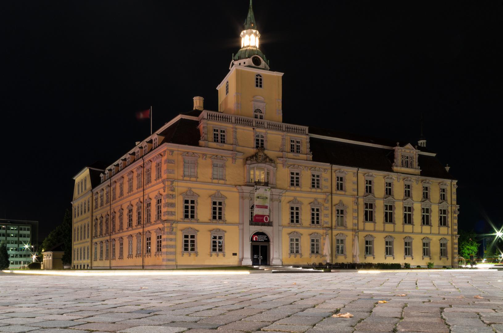 Oldenburger Schloß bei Nacht