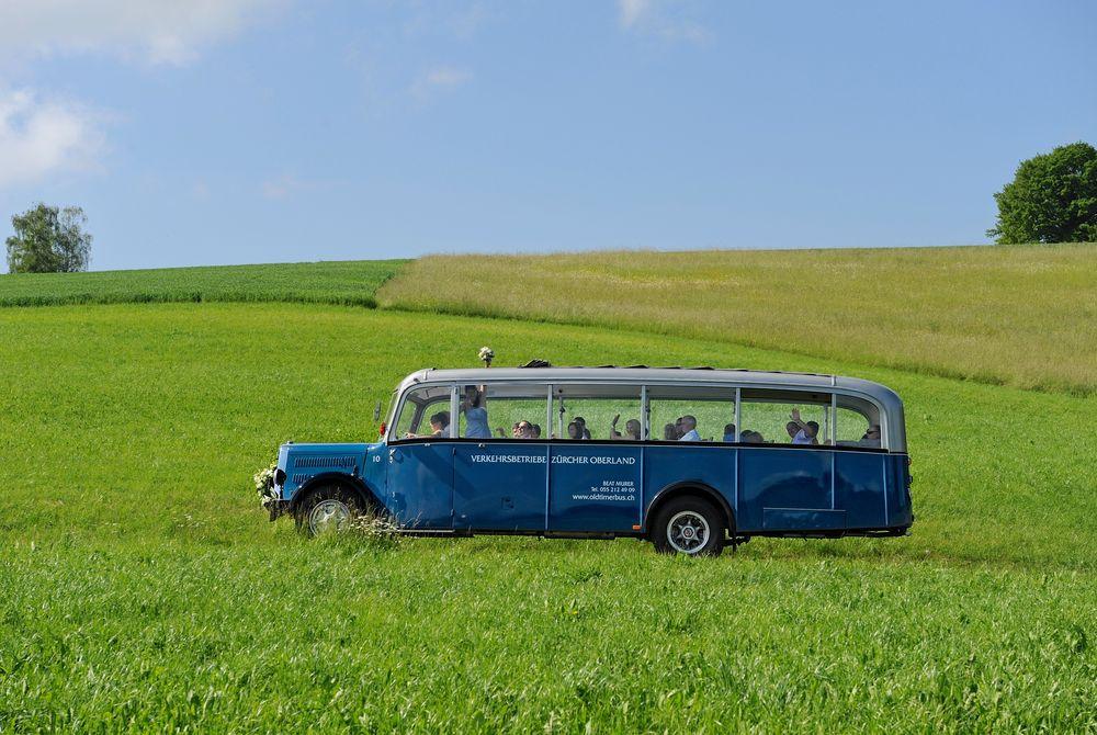 Oldi Buss an unserer Hochzeit