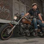 Oldschool-Biker
