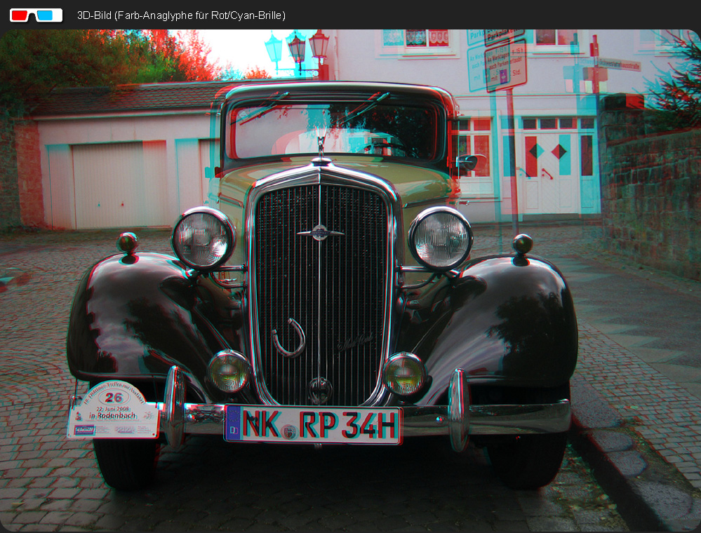 Oldtimer 3D (Farb-Anaglyphe Rot/Cyan)