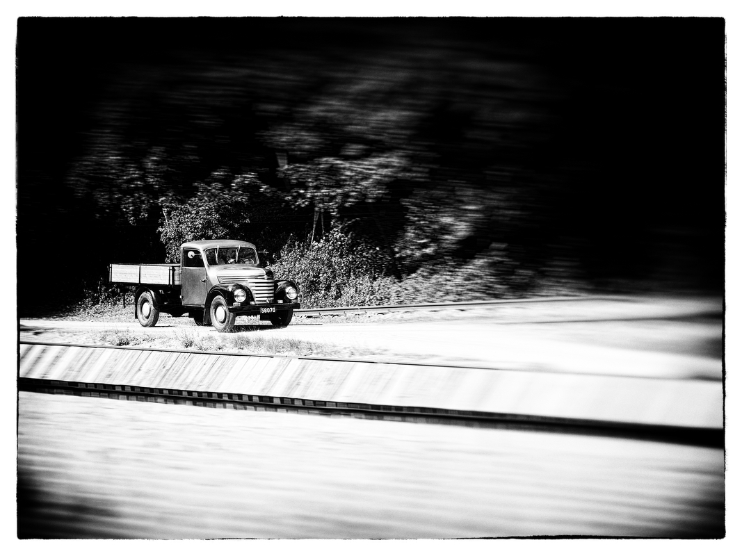 Oldtimer auf dem Weg nach Hause