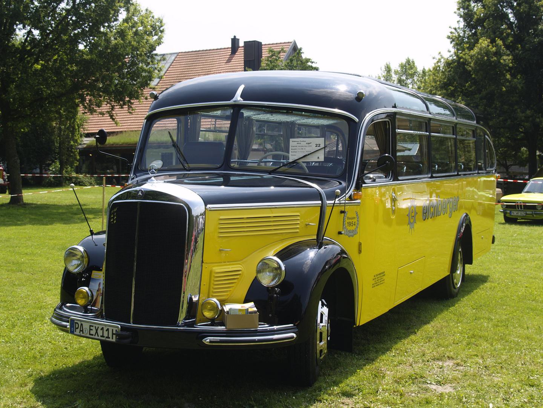 Oldtimer Bus Mercedes Von 1954 Foto Bild Bus Nahverkehr