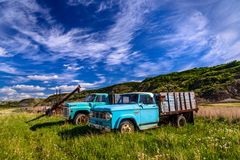Oldtimer Trucks, Drumheller, Alberta, CA