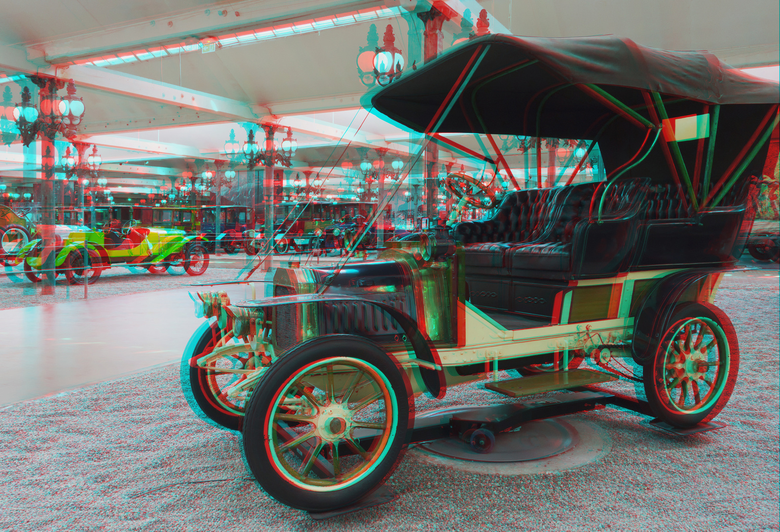 Oldtimermuseum in Mulhouse - 3 D Anaglyphe