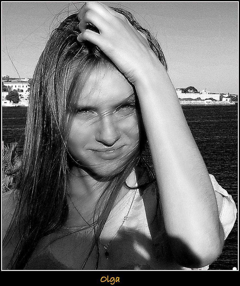 Olga en la playa