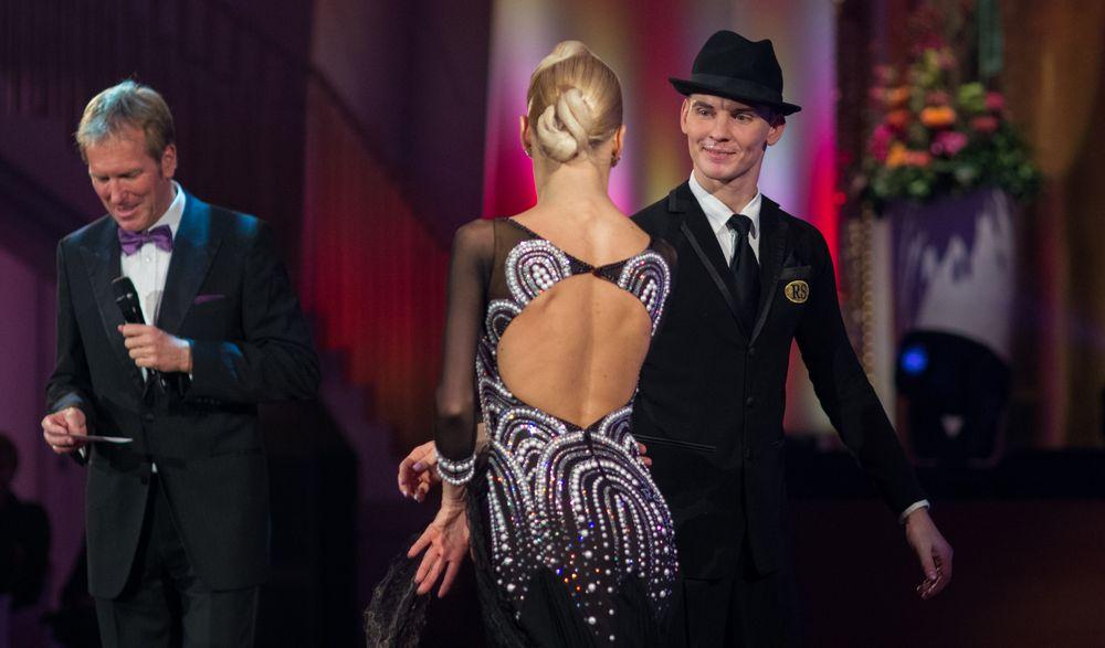 Olga Kulikova und Dmitry Zharkov nach dem Interview mit Markus Brock