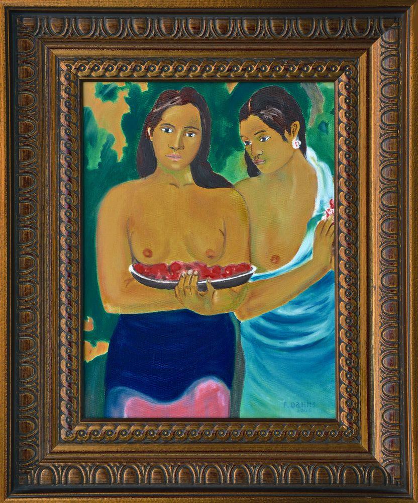 Olgemälde, Gauguin - Zwei Frauen von Tahiti