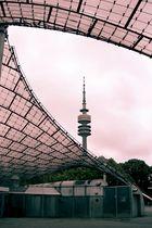 Olympia-Gelände München - Rahmen für Fernsehturm