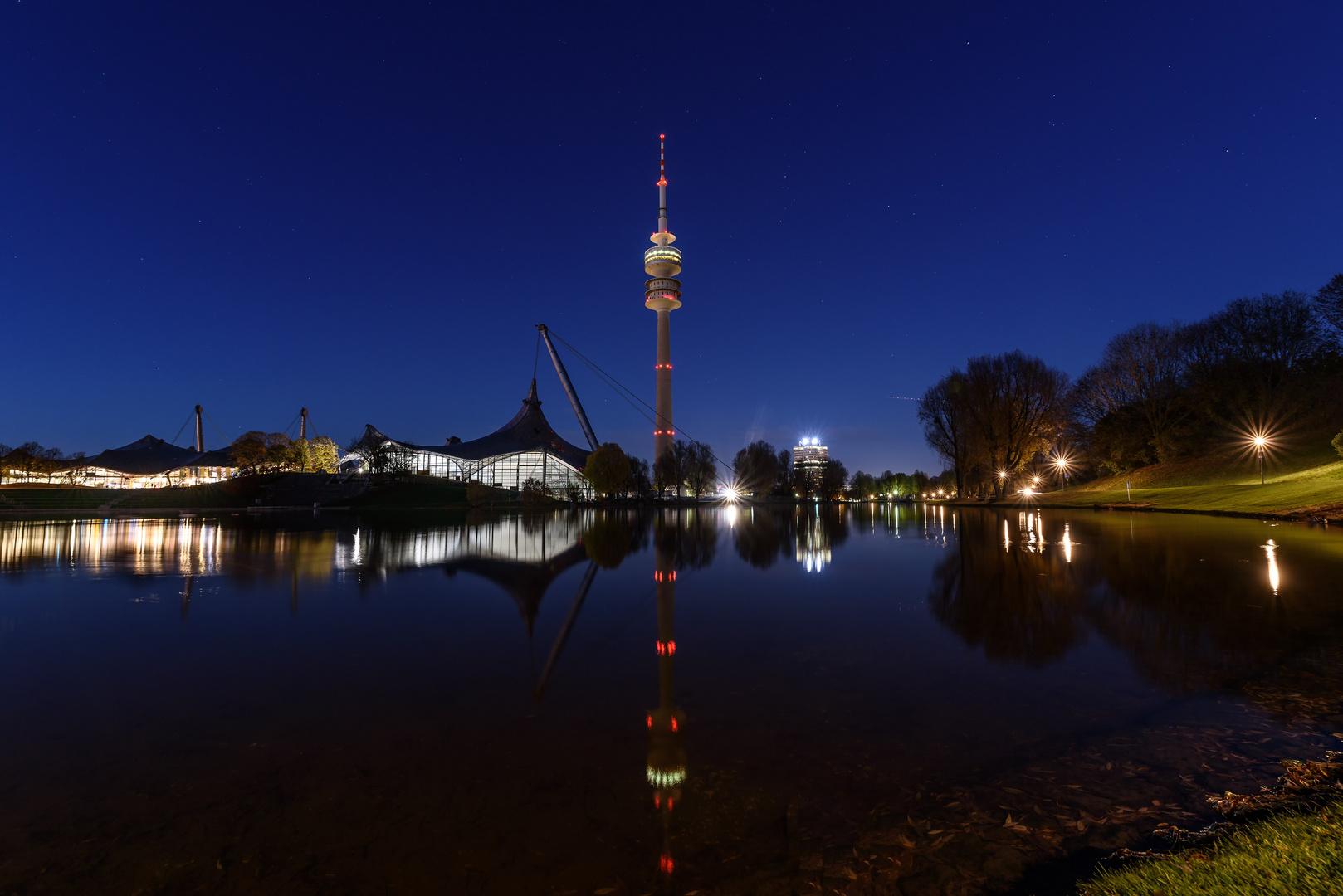 Olympiasee im Olympiapark München