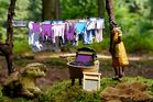 Oma Zapfe hatte heute Waschtag