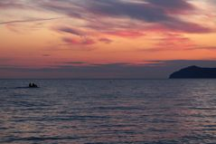 Ombre sul mare su tramonto autunnale...