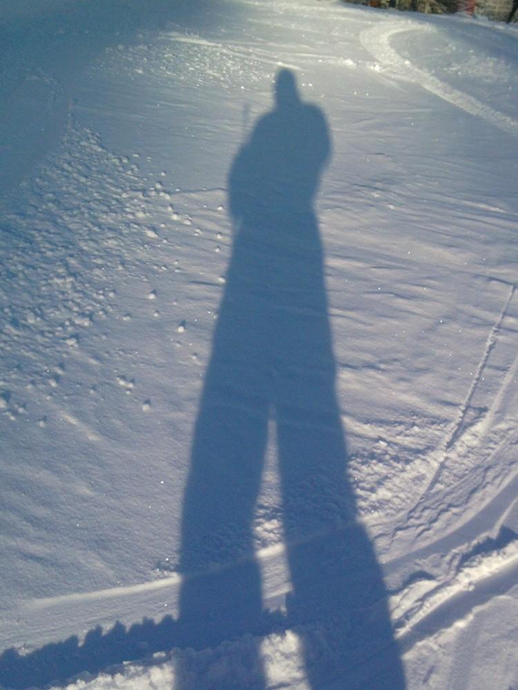 Ombre sur la neige.