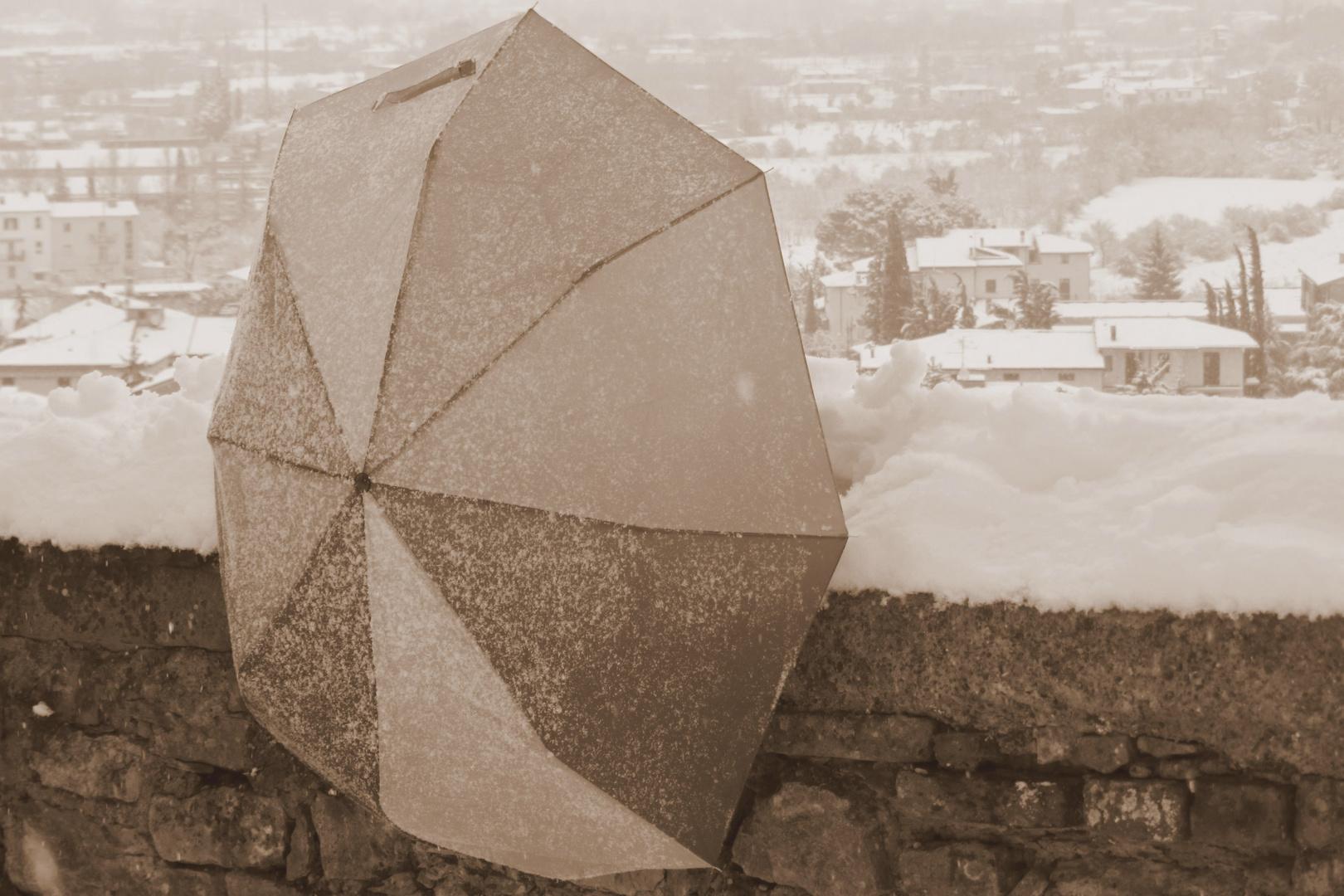 Ombrello sulla neve 4