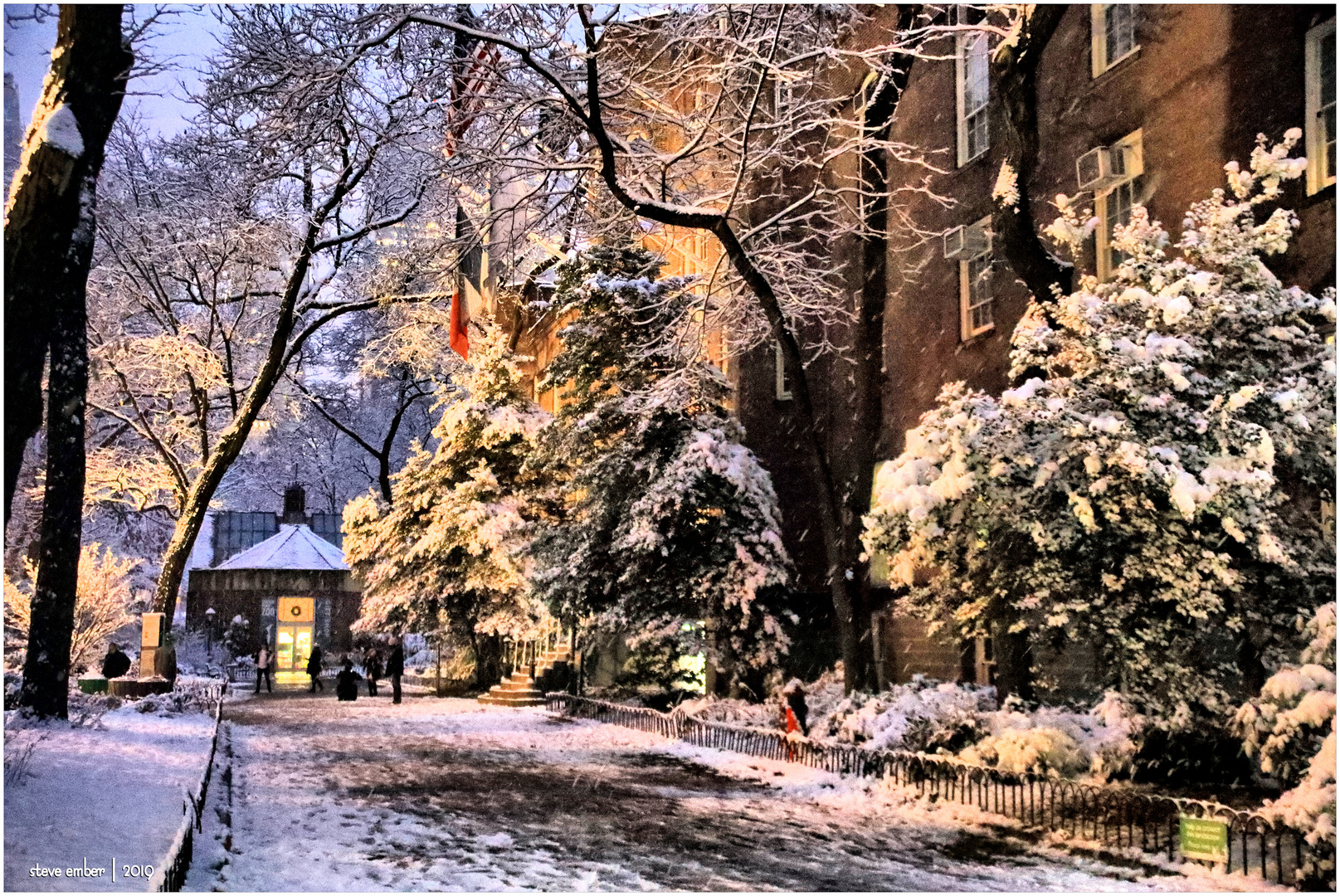 On a Snowy Evening in Central Park - No.12
