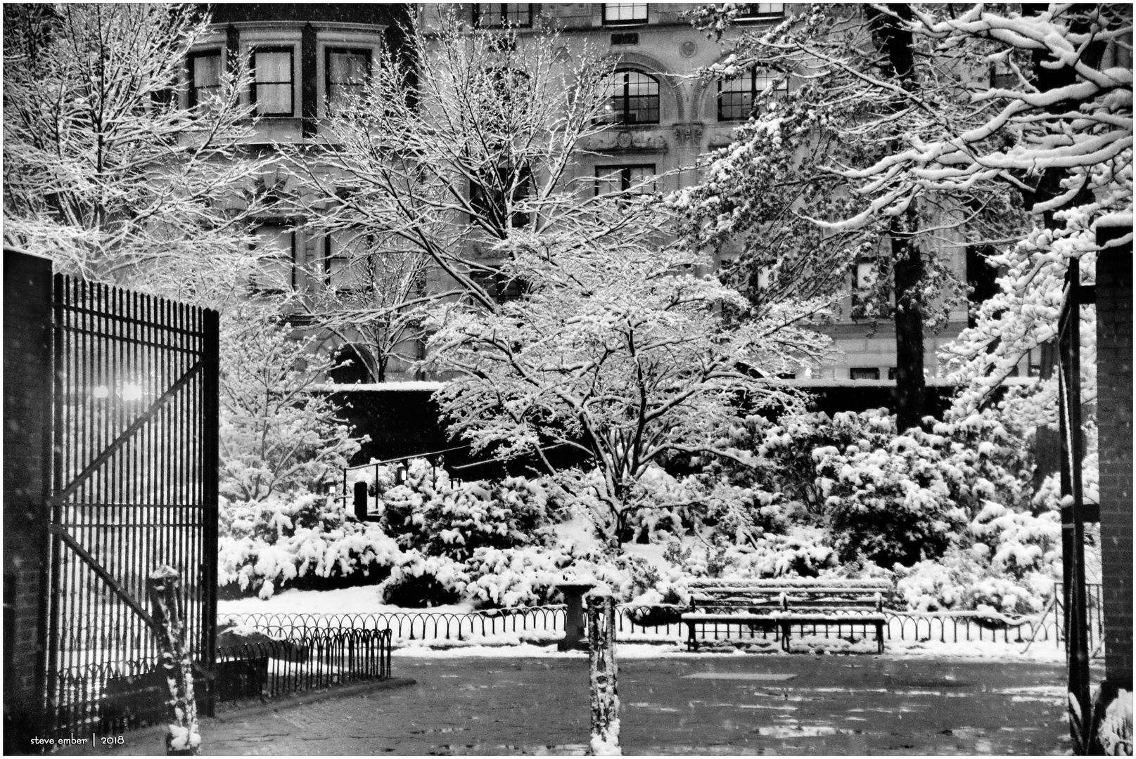 On a Snowy Evening in Central Park - No.7 - View toward 5th Ave