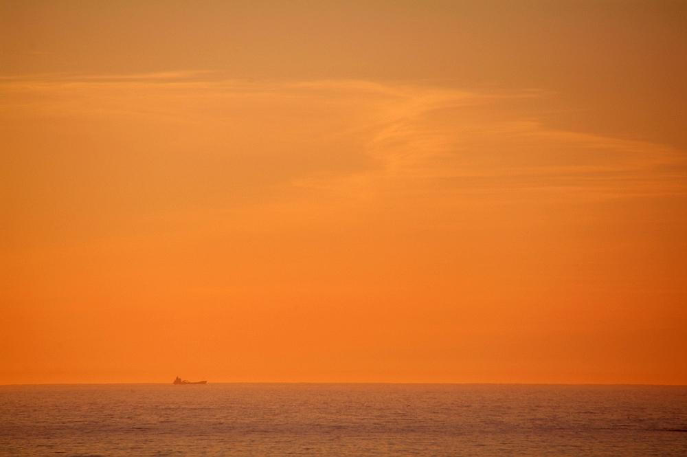 on sea