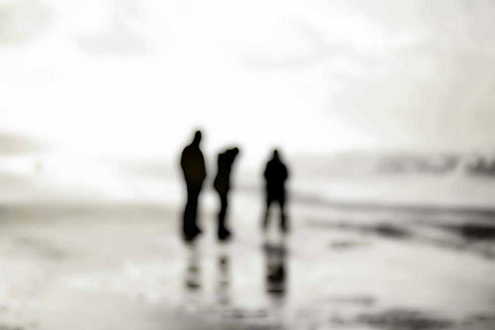 On the beach ...