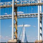 On the Chesapeake, No.1 - Sailboat and Bridge Towers