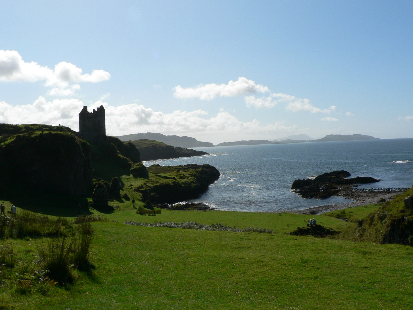 On the Island of Kerrera with the Ruins of Gylen Castle