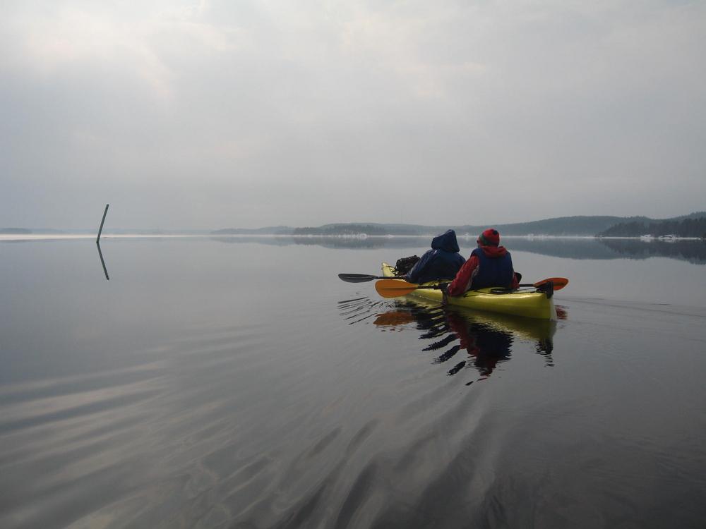 On the lake Saimaa in winter