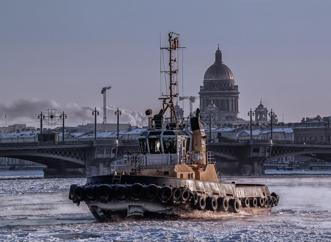 On the Neva river