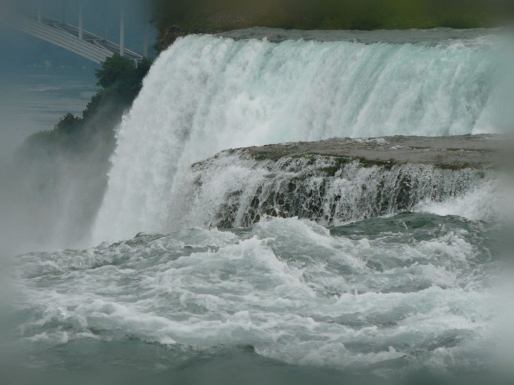 On top of The American Falls, Niagara, NY