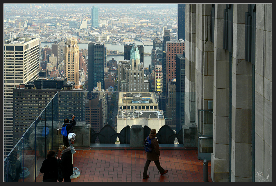 On top of the rock...