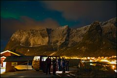 On tour- Polarlichtjagd in Reine