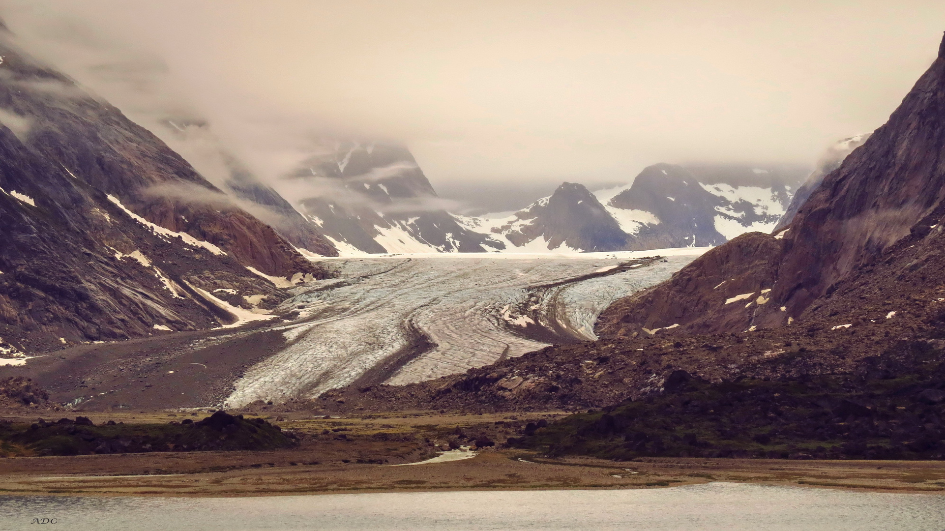 Once this Glacier reached the Water