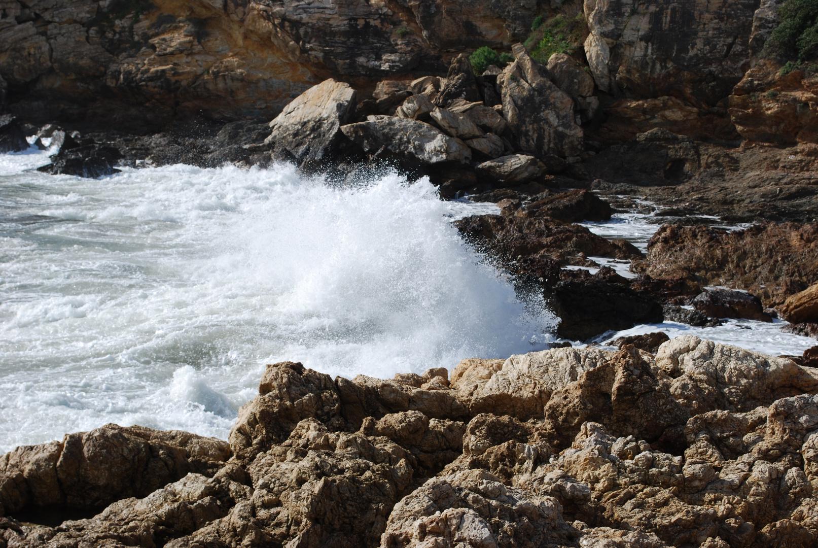onde sulla scogliera