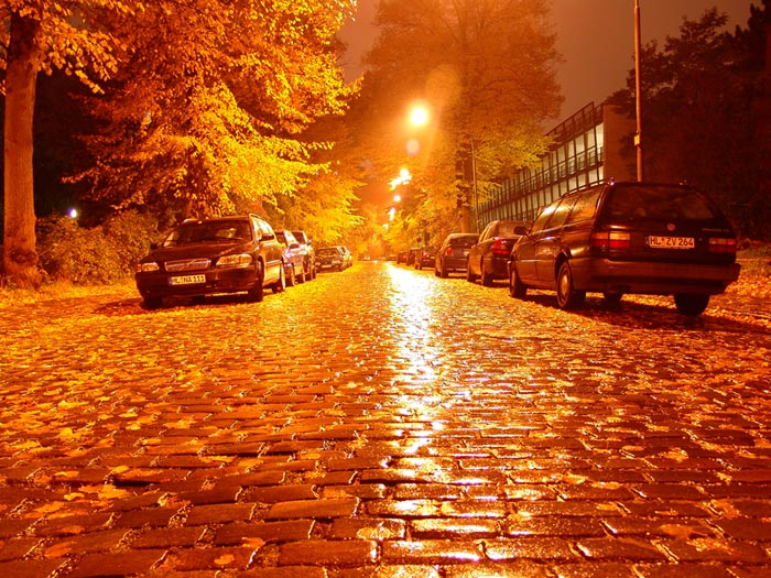 One little Street at night ...