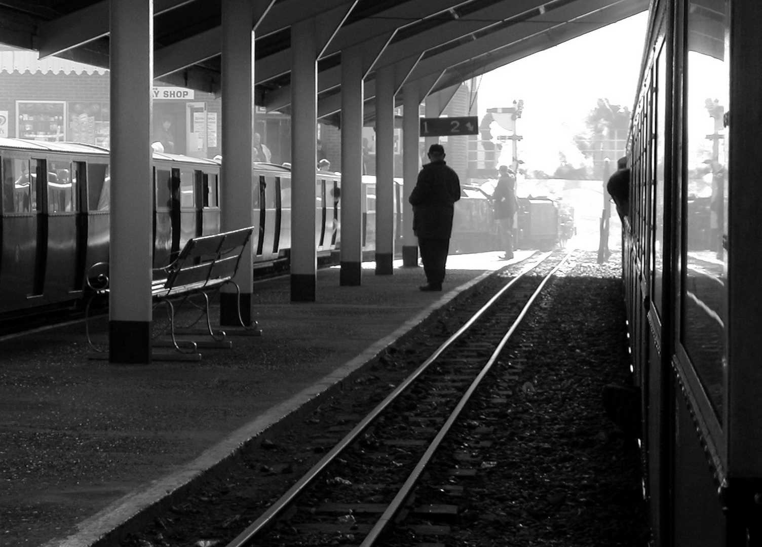 One Man on a Lonely Platform