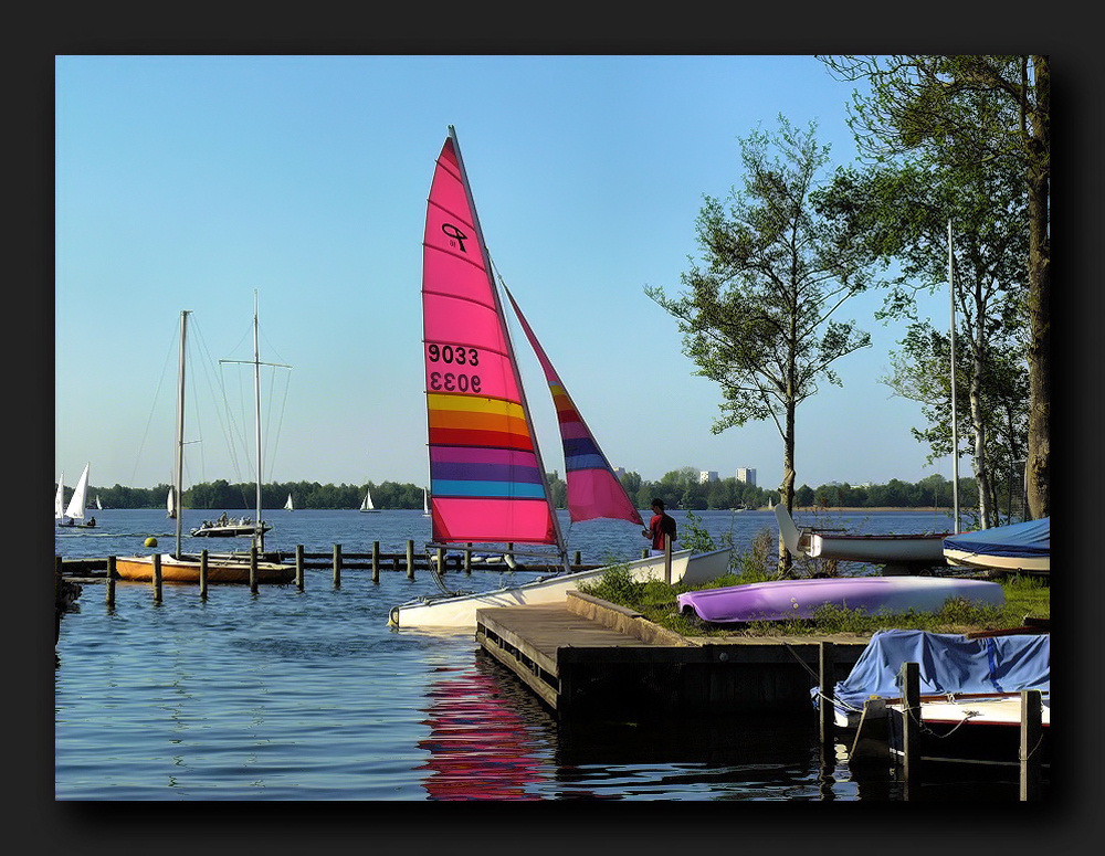 One of the many sailing boats